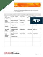 Team Roster Worksheet