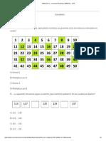 preguntas 1 evaluacion matematica miercoles 25