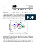 CMAI - Strategic Chemical Business Positon ( Jan. 2011 Report)