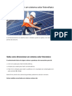 Energia solar - dimensionamento