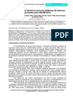 A Termodinâmica Química nos livros didáticos de Química aprovados pelo PNLEM 2012.