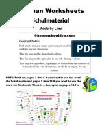 Schulmaterial German Worksheets Lesespiel