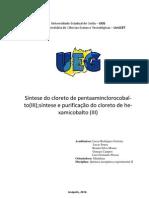 Síntese do cloreto de pentaaminclorocobalto(III)
