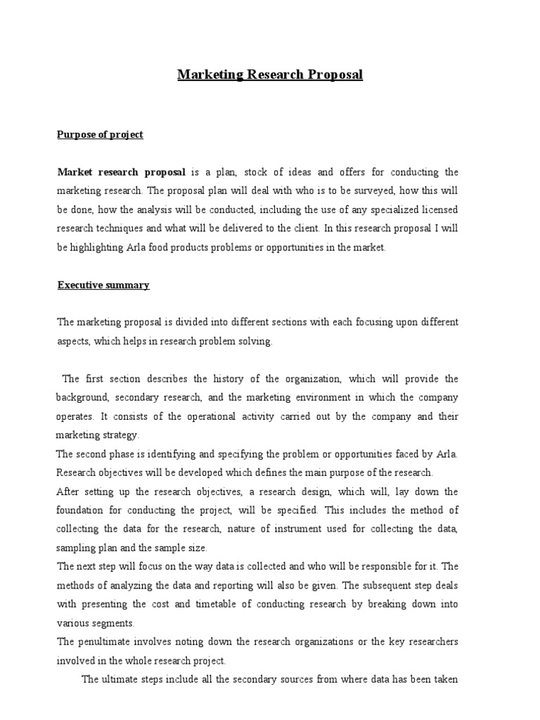 Marketing research proposal template Etusivu