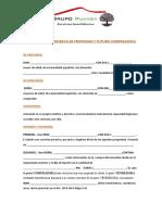 Malaga Documento de Reserva de Propiedad y Futura Compraventa Manuel Barea