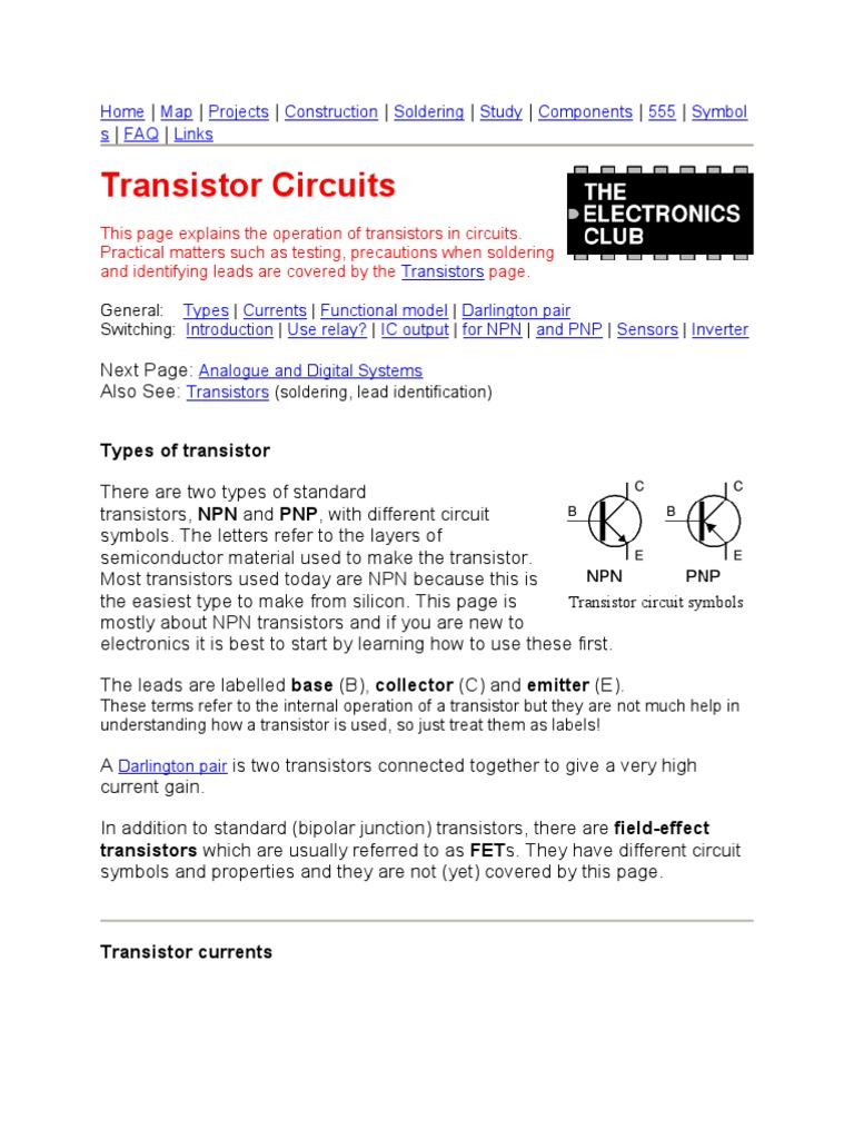 Tansistor As Switch Bipolar Junction Transistor Act A Working And Switching Circuit