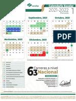 Calendario escolar 2021-2022 Conalep