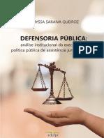 Defensoria Pública análise institucional Capa__Miolo20191217100659