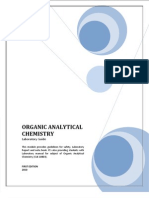 Lab Manual Organic Analytical Chemistry