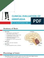 CNS - Clinical Evaluation of Hemiplegia