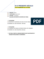 LITURGIA DO SEMINÁRIO DE JOVENS