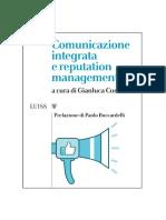 Comunicazione Integrata e Reputation Management Gianluca Comin a Cura Di