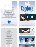 April 3, 2011 Cordova Church Bulletin