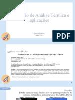 Seminário de Análise Térmica e aplicações