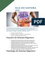FISIOLOGIA DO SISTEMA DIGESTIVO