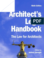 Architect's legal handbook - the law for architects. 9th edition
