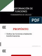 Sem 3_Sesión 8 _Transformación de funciones (reflejo en los ejes coordenados , alargue y acorte)