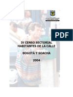 2004-IDIPRON-IV Censo Habitantes de Calle