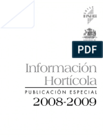 Rendimiento Horticola Chile 2008-2009