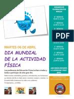 Invitacion Dia de La Actividad Fisica
