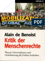 Alain de Benoist - Kritik der Menschenrechte (2004)