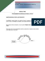MÓDULO TRES PROCEDIMIENTOS ESPECIALES PARA EL TEXTO (1)