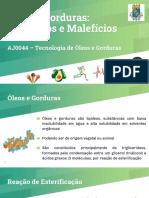 Óleos e Gorduras_Benefícios e Malefícios