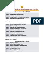 asp.net certification syllabus