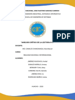 ANÁLISIS CRÍTICO DE LA LECTURA N°2 (GRUPAL)
