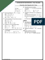 Equacões do 2º grau - 2011