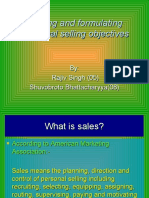 Setting and formulating personal selling objectives  05,08