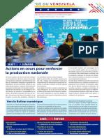 Venezuela Informează| Buletin Săptămânal 13.08.2021 - versiune limba franceza