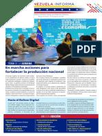 Venezuela Informează| Buletin Săptămânal 13.08.2021 - versiune limba spaniola