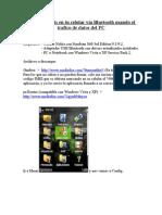 Internet gratis en tu celular vía Bluetooth usando el  trafico de datos del PC
