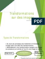 Transformations sur des images Février 2016