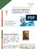 2  Expressão algébrica e Equação do 1o grau