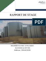 Rapport de Stage SAVOLA MAROC