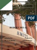 Study of Union Budget 2011
