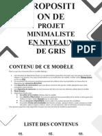 Proposition de projet minimaliste en niveaux de gris by Slidesgo