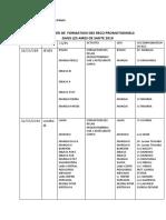 CALENDRIER DE FORMATION RECO CARAMAL