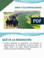 Las Migraciones y Sus Modalidades Tema 2 Geo-humana 11º