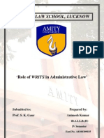 Role of WRITS in administrative law