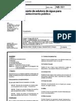 NBR 12215 NB 591 - Projeto de Adutora de Agua Para Abastecimento Publico[1]