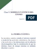 Clase 9. MODELO CUÁNTICO DEL ÁTOMO