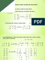 Matriz LRFE- Escalonamento