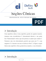 Geometria Analítica - Seções Cônicas