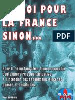 Un Roi Pour La France Sinon...