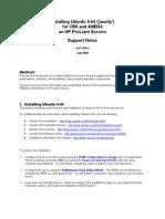 Ubuntu-ProLiant-Support-Notes-20090730