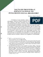 A Noção de Fronteira e o Espaço Nacional No Pensamento Social Brasileiro_Souza