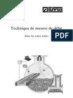 techniques de mesure de debit dans les eaux usées